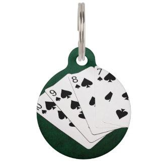 Poker übergibt - gerades Erröten - Spaten-Anzug Tiermarke
