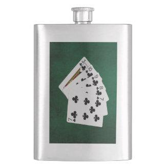 Poker übergibt - gerades Erröten - Verein-Anzug Flachmann