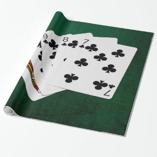 Poker übergibt - gerades Erröten - Verein-Anzug Geschenkpapier