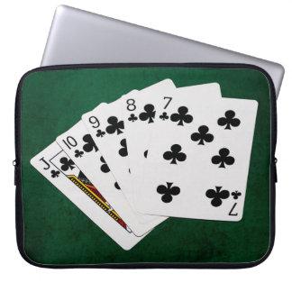Poker übergibt - gerades Erröten - Verein-Anzug Laptopschutzhülle