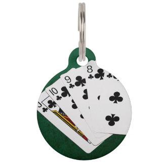 Poker übergibt - gerades Erröten - Verein-Anzug Tiermarke