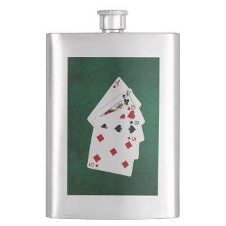 Poker übergibt - hohe Karte - As Flachmann