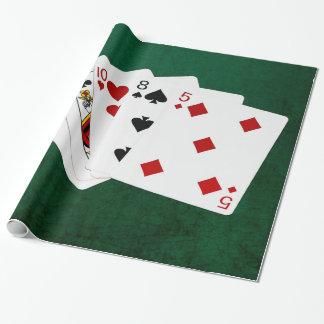 Poker übergibt - hohe Karte - As Geschenkpapier