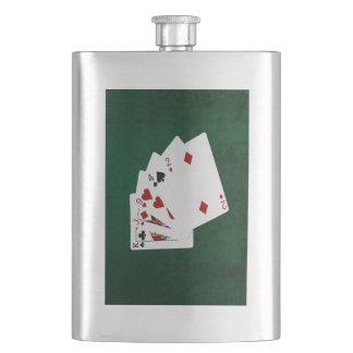 Poker übergibt - hohe Karte - König Flachmann