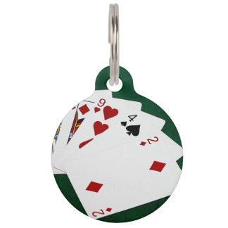 Poker übergibt - hohe Karte - König Haustiermarke