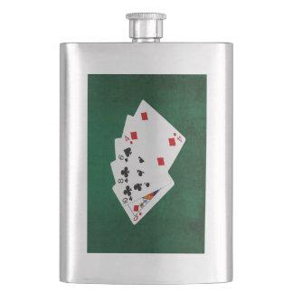 Poker übergibt - hohe Karte - Königin Flachmann