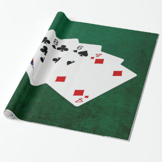 Poker übergibt - hohe Karte - Königin Geschenkpapier