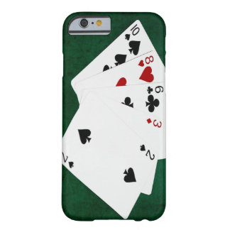 Poker übergibt - hohe Karte - zehn Barely There iPhone 6 Hülle