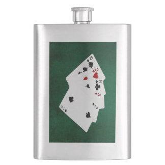 Poker übergibt - hohe Karte - zehn Flachmann