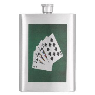 Poker übergibt - königliches Erröten - Flachmann