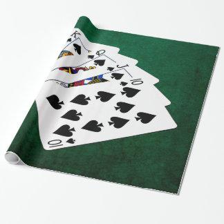 Poker übergibt - königliches Erröten - Geschenkpapier