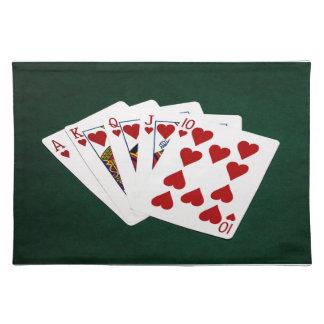 Poker übergibt - königliches Erröten - Herz-Anzug Tischset