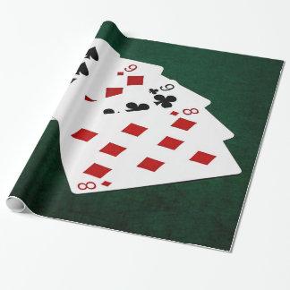 Poker übergibt - vier einer Art - Nines und acht Geschenkpapier