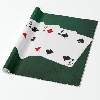 Poker übergibt - volles Haus - acht und vier Geschenkpapier