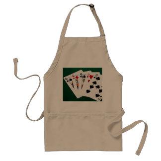 Poker übergibt - volles Haus - Königin und neun Schürze