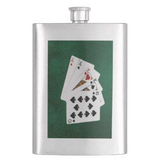 Poker übergibt - zwei Paare - As, König Flachmann