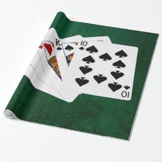 Poker übergibt - zwei Paare - As, König Geschenkpapier
