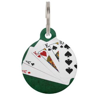 Poker übergibt - zwei Paare - As, König Tiernamensmarke