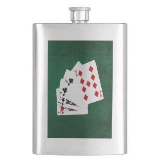 Poker übergibt - zwei Paare - Jack, vier Flachmann