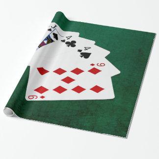 Poker übergibt - zwei Paare - Jack, vier Geschenkpapier