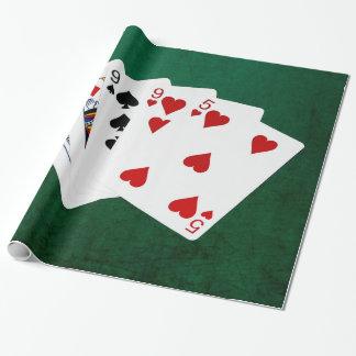 Poker übergibt - zwei Paare - König, neun Geschenkpapier