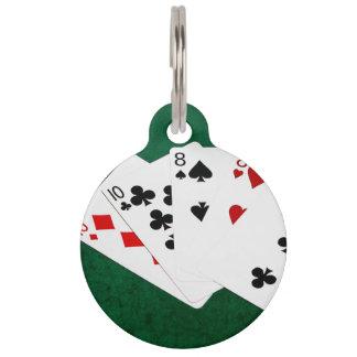 Poker übergibt - zwei Paare - zehn, acht Tiernamensmarke