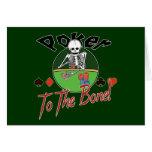 Poker zum Knochen! Grußkarte