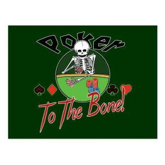Poker zum Knochen! Postkarte
