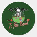 Poker zum Knochen! Runde Sticker