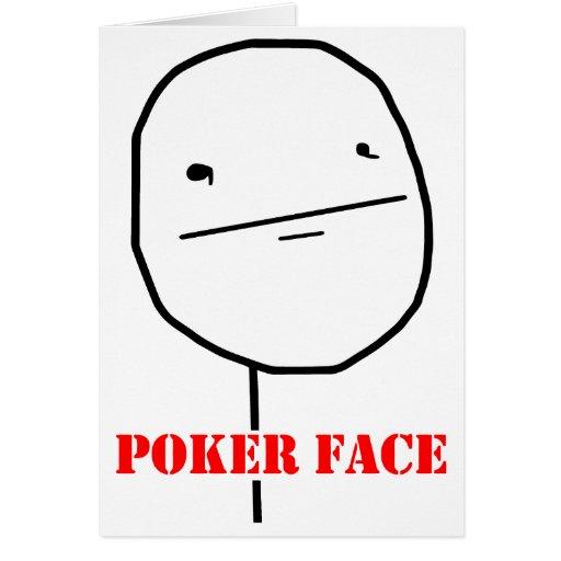 Pokergesicht - meme grußkarte