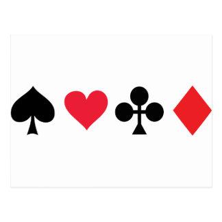 PokerKartenspiel Postkarte