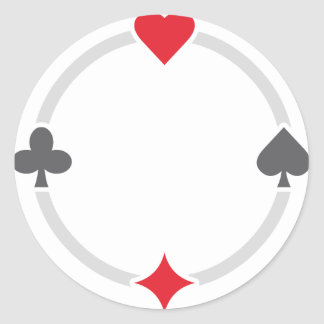 Pokersigns Runder Aufkleber