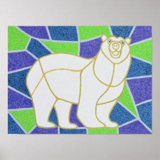 Polar betreffen Sie Buntglas Poster