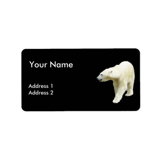 Polar betreffen Sie einen schwarzen Hintergrund Adressaufkleber