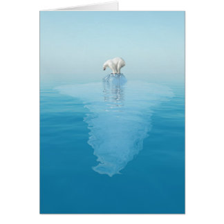 Polar betreffen Sie Eisberg-Anmerkungs-Karte Mitteilungskarte
