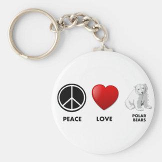 polare Bären der FriedensLiebe retten die Bären Schlüsselanhänger