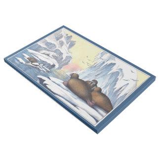 Polare Bären, Walroß und Siegel Galerieleinwand
