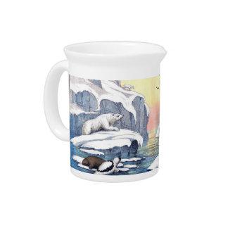 Polare Bären, Walroß und Siegel Getränke Pitcher