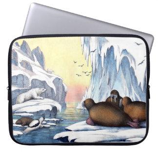 Polare Bären, Walroß und Siegel Laptopschutzhülle