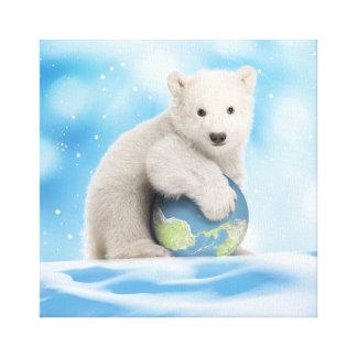 Polare Bärenjungs-WeltLeinwand Leinwanddruck