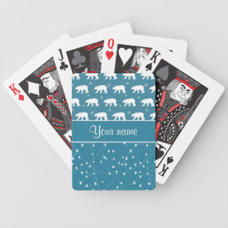Polare Bärn-funkelnde Sterne personalisiert Bicycle Spielkarten