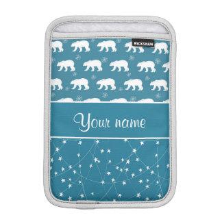 Polare Bärn-funkelnde Sterne personalisiert iPad Mini Sleeve