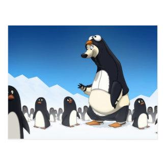 Polare Pinguin-Postkarten Postkarte