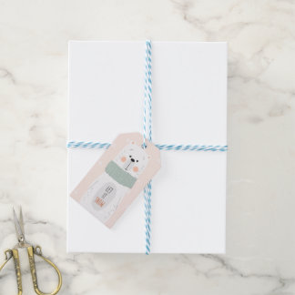 Polarer Bär - lassen Sie ihn schneien - niedlicher Geschenkanhänger