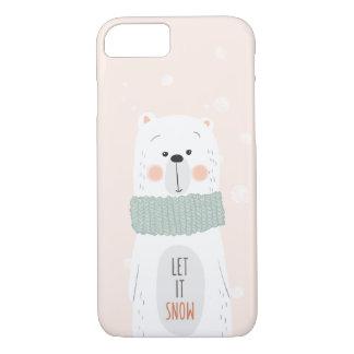Polarer Bär - lassen Sie ihn schneien - niedlicher iPhone 8/7 Hülle