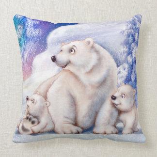 Polarer Bär u. niedliches Kissen der Jungen Kissen
