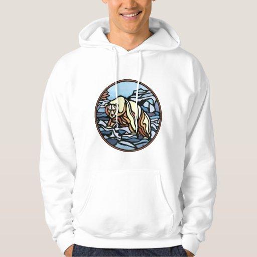 Polarer Bärhoodie-Bärn-Kunsthoodie-Shirts Kapuzenpullover