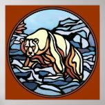 Polarer Bärn-Kunst-Druck-Stammes- Tier-Wohngestalt Posterdrucke
