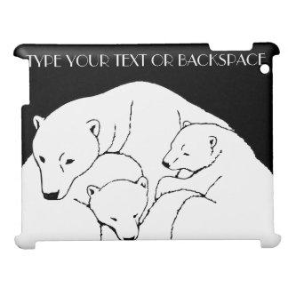 Polarer Bärn-Kunst iPad Fall-personalisierte iPad Hüllen