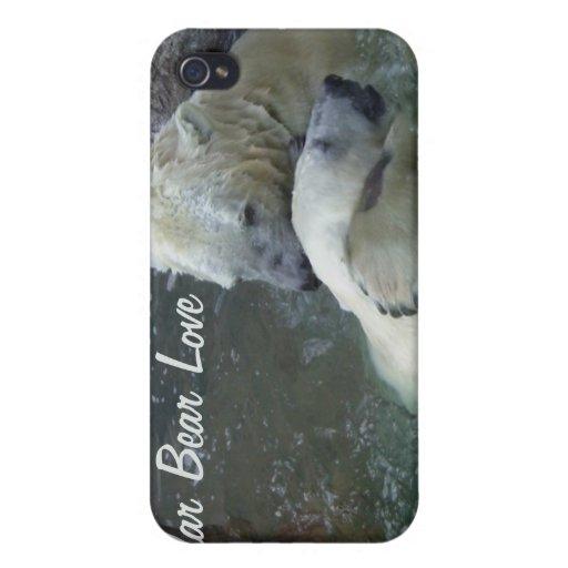 Polarer Bärn-Liebe iPhone 4 Schutzhüllen